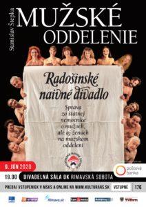 RND: Mužské oddelenie @ Divadelná sála Domu kultúry Rimavská Sobota, Námestie Š. M. Daxnera, 979 01 Rimavská Sobota