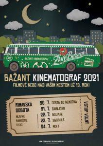 Bažant kinematograf 2021 @ Mestské kultúrne stredisko Rimavská Sobota