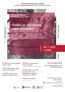 Dotkni sa Novohradu: Objav keramiku 2021 @ Novohradské múzeum a galéria