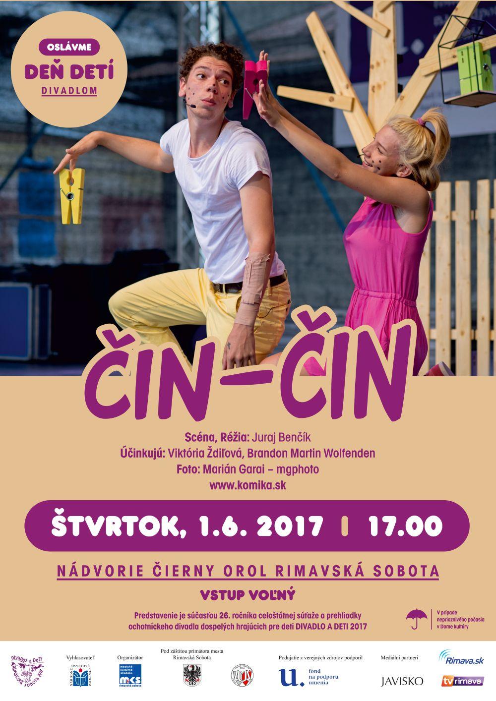 Deň detí - predstavenie Čin-Čin @ Nádvorie Čierny orol, Rimavská Sobota | Slovensko