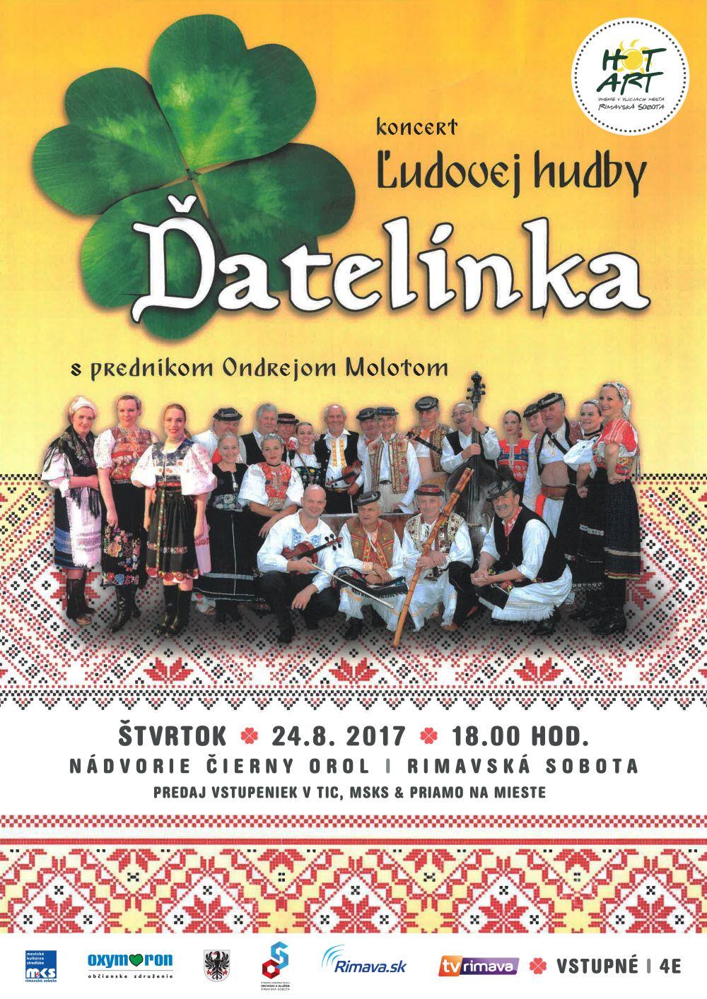 Ľudová hudba Ďatelinka z Podpoľania @ Nádvorie Čierny orol, Rimavská Sobota | Slovensko