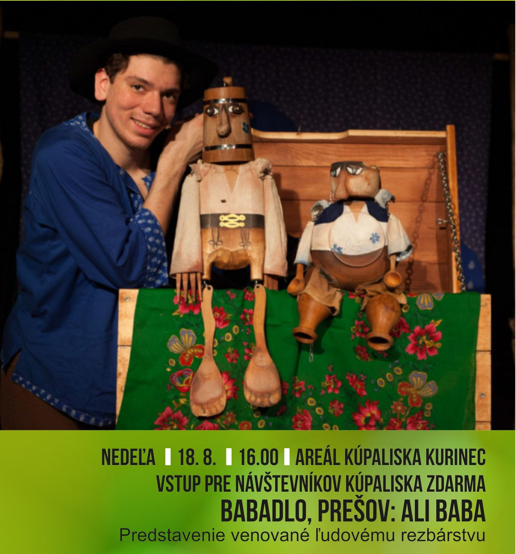 Divadlo Babadlo: Ali Baba @ Kurinec - kúpalisko