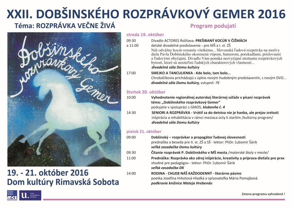 Dobšinského rozprávkový Gemer 2016 @ Dom kultúry Rimavská Sobota, Knižnica M. Hrebendu