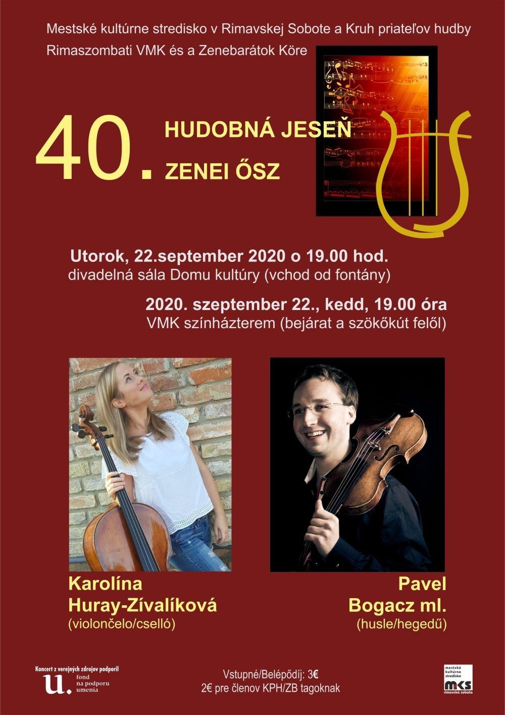 Koncert Hudobnej jesene @ Divadelná sála Domu kultúry Rimavská Sobota