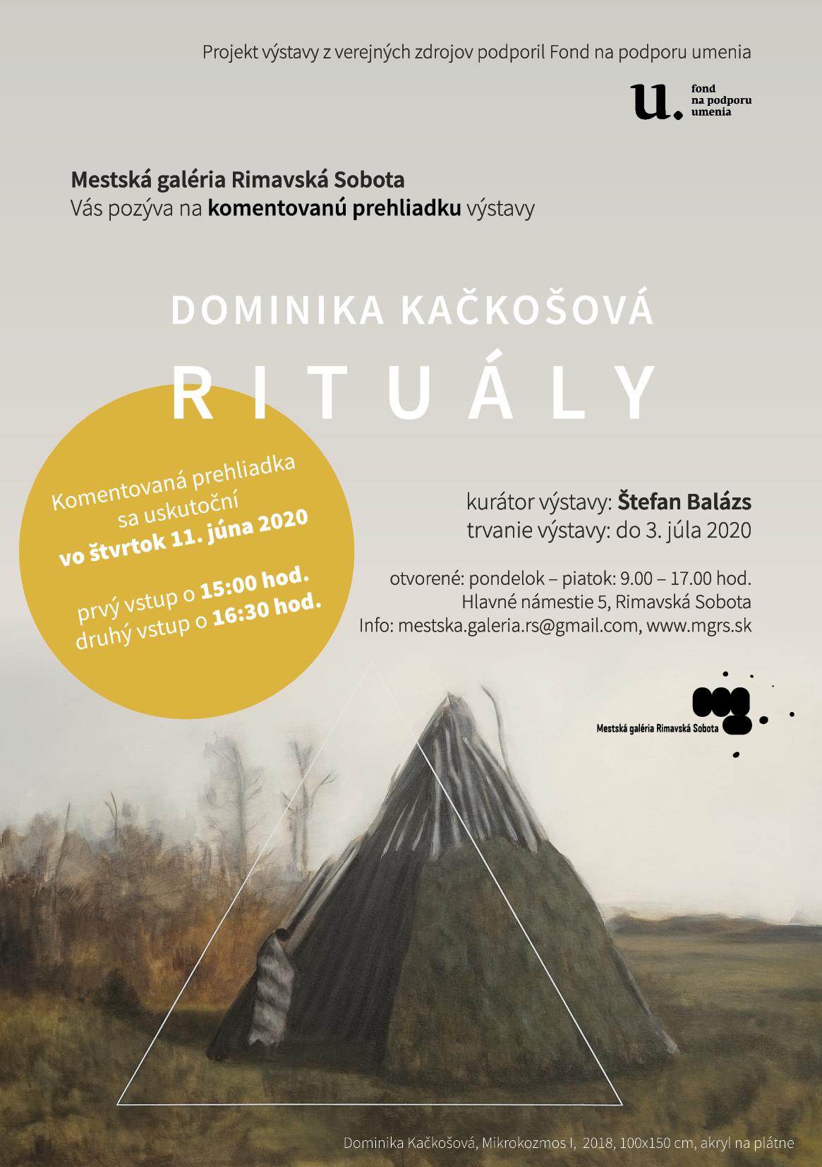 Komentovaná prehliadka výstavy Dominika Kačkošová, Rituály @ Mestská galéria Rimavská Sobota
