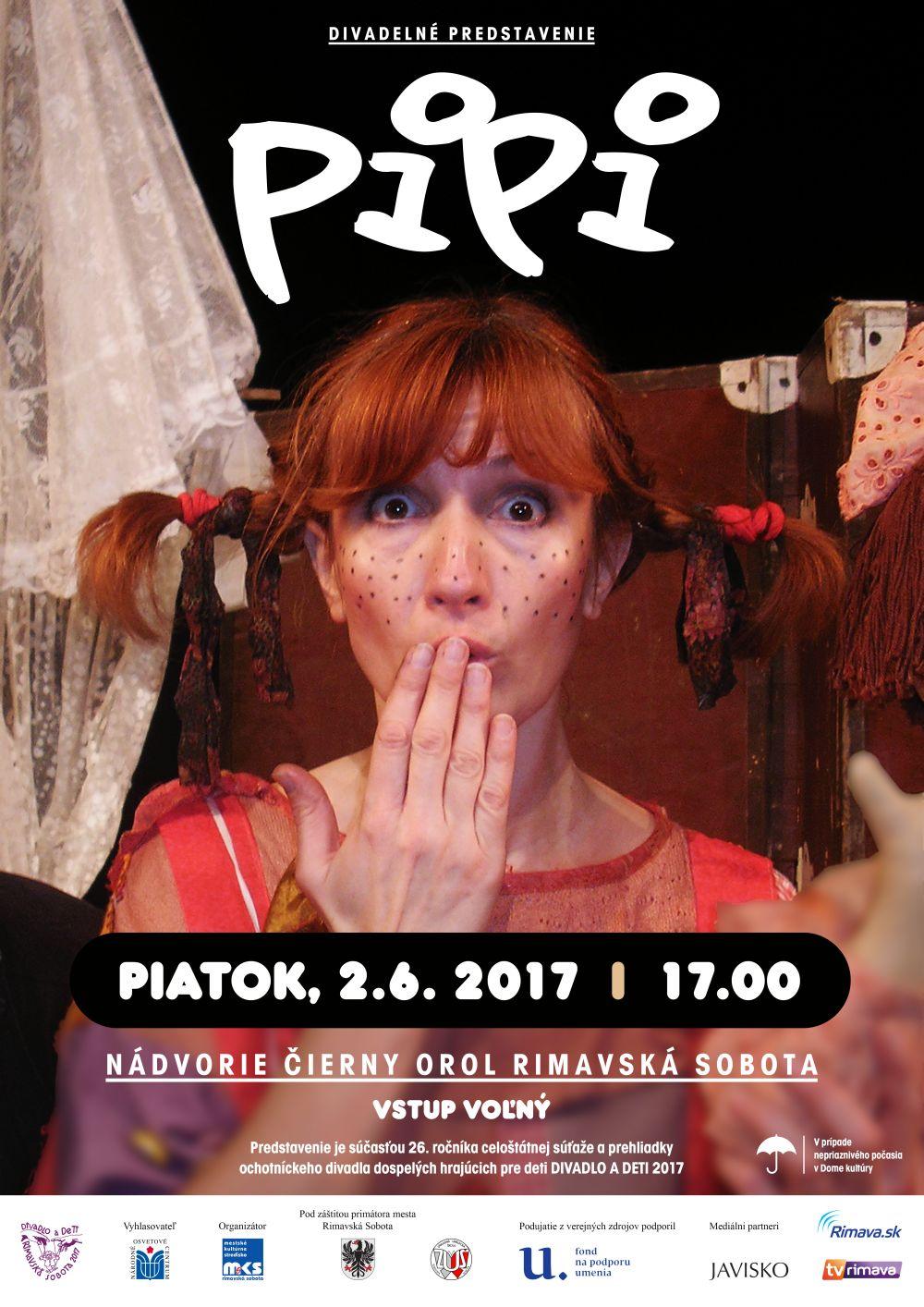 Divadelné predstavenie PIPI @ Nádvorie Čierny orol, Rimavská Sobota | Slovensko