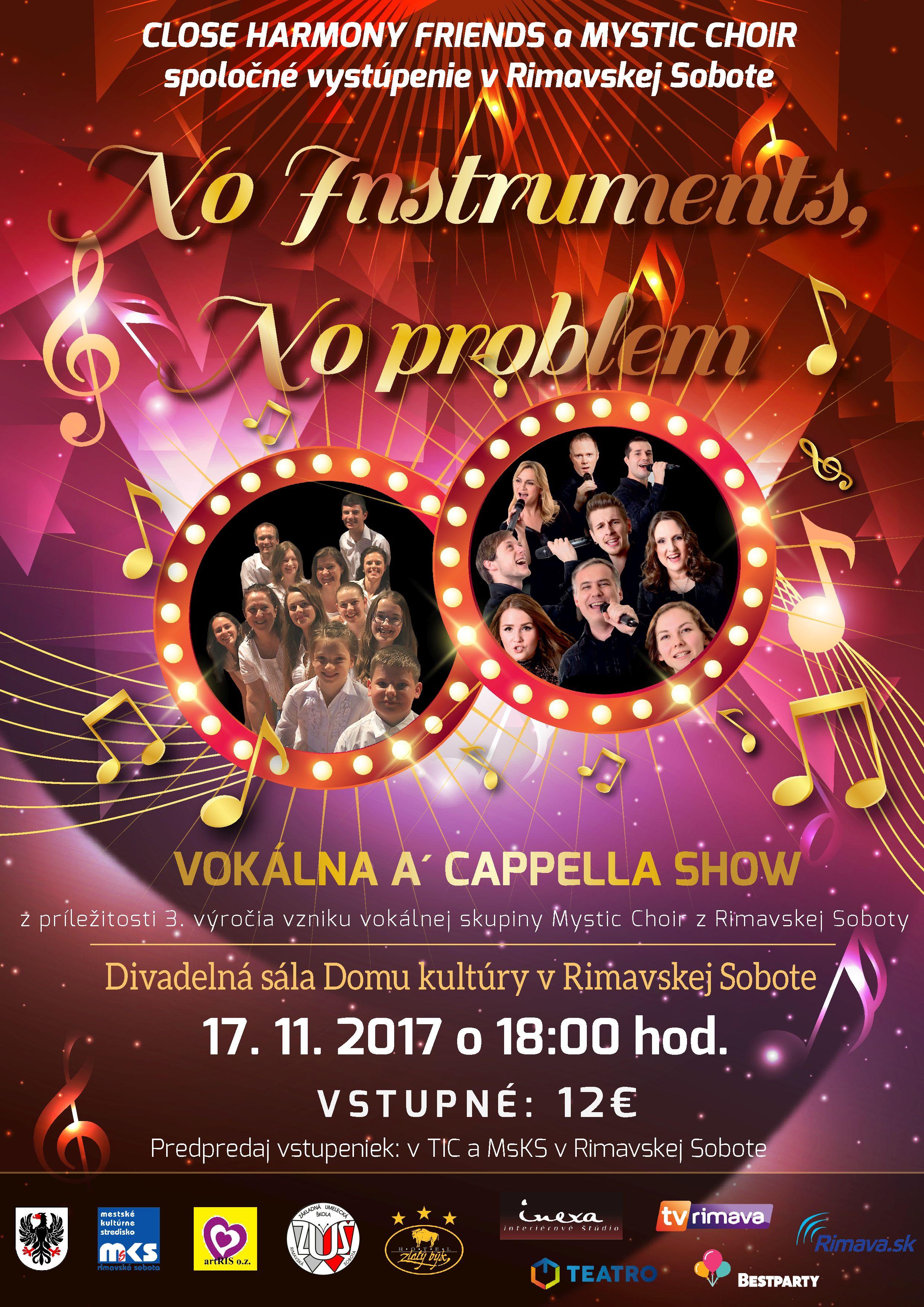 No instruments, no problem @ Divadelná sála Domu kultúry Rimavská Sobota | Slovensko