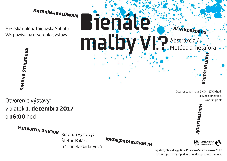 Bienále maľby VI.?, Abstrakcia / metóda a metafora @ Mestská galéria Rimavská Sobota, Hlavné námestie 5 | Banskobystrický kraj | Slovensko
