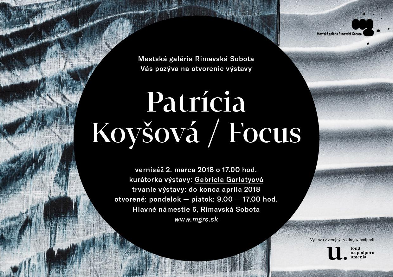 Patrícia Koyšová / Focus @ Mestská galéria Rimavská Sobota, Hlavné námestie 5 | Banskobystrický kraj | Slovensko
