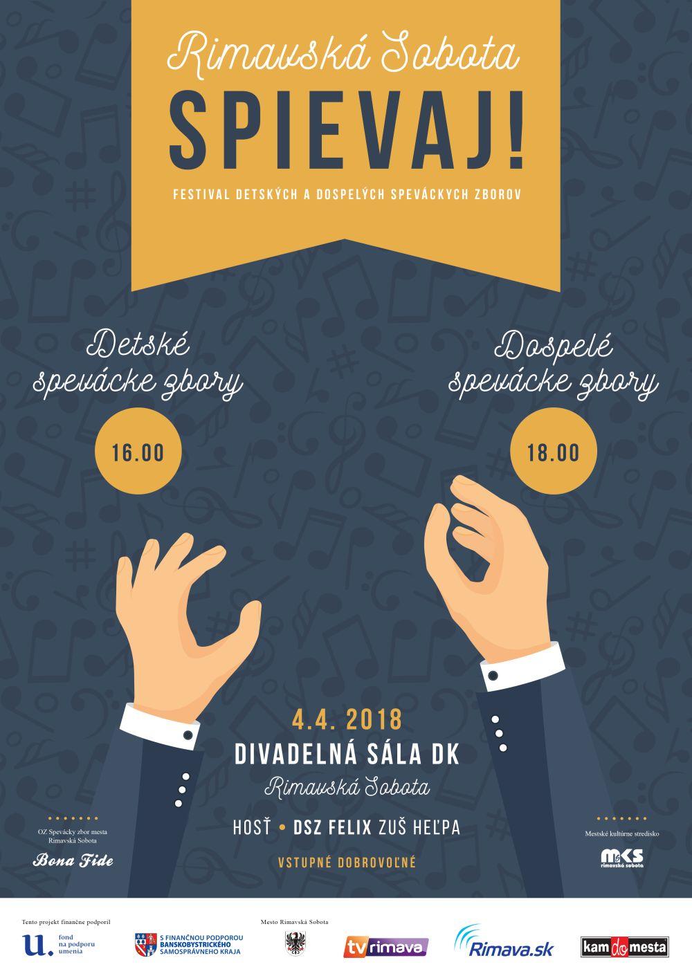 Rimavská Sobota spievaj! @ Divadelná sála Domu kultúry Rimavská Sobota | Slovensko