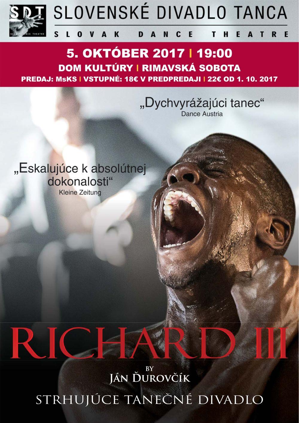 Ján Ďurovčík: RICHARD III @ Divadelná sála Domu kultúry, Rimavská Sobota | Slovensko