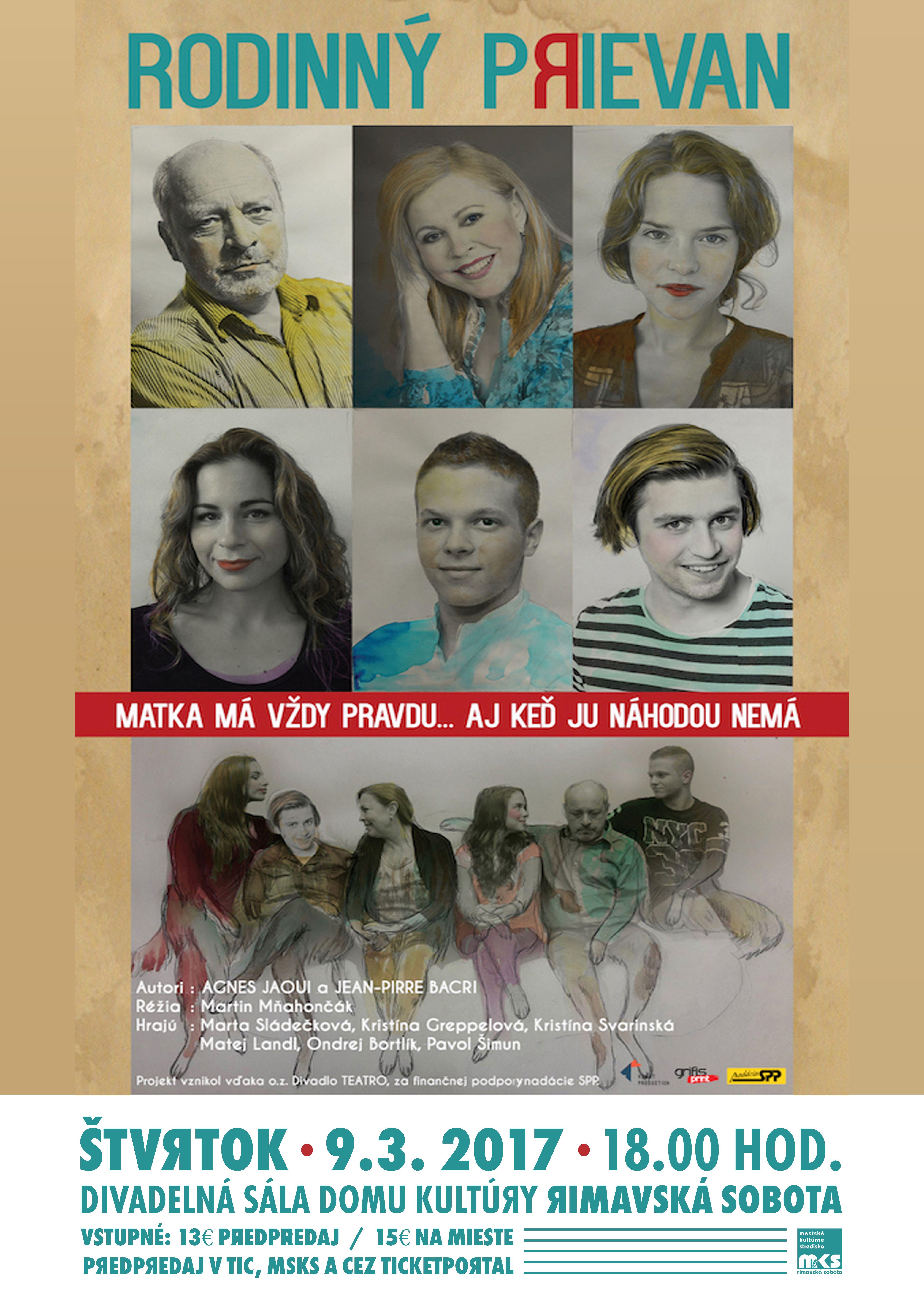 RODINNÝ PRIEVAN @ Divadelná sála Domu kultúry Rimavská Sobota | Slovensko