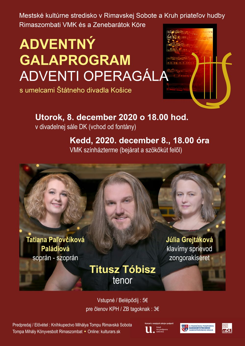 Adventný koncert s Tituszom Tóbiszom @ Divadelná sála Domu kultúry Rimavská Sobota