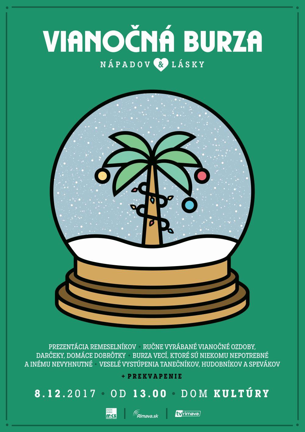 Vianočná burza nápadov a lásky 2017 @ Dom kultúry Rimavská Sobota, vchod od Kauflandu | Banskobystrický kraj | Slovensko