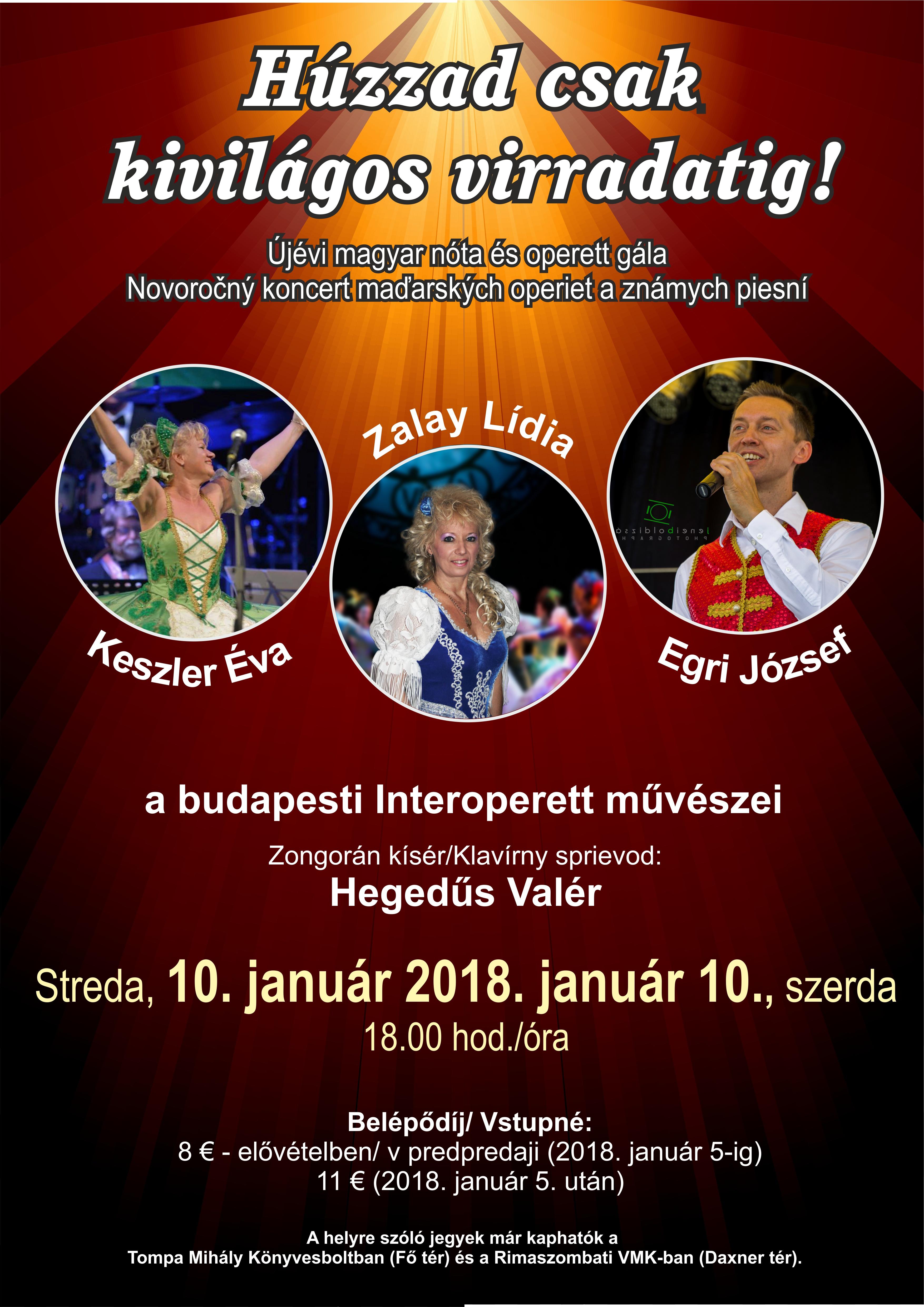 Újévi magyar nóta és operett gála - Novoročný koncert maďarských operiet @ divadelná sála DK | Banskobystrický kraj | Slovensko