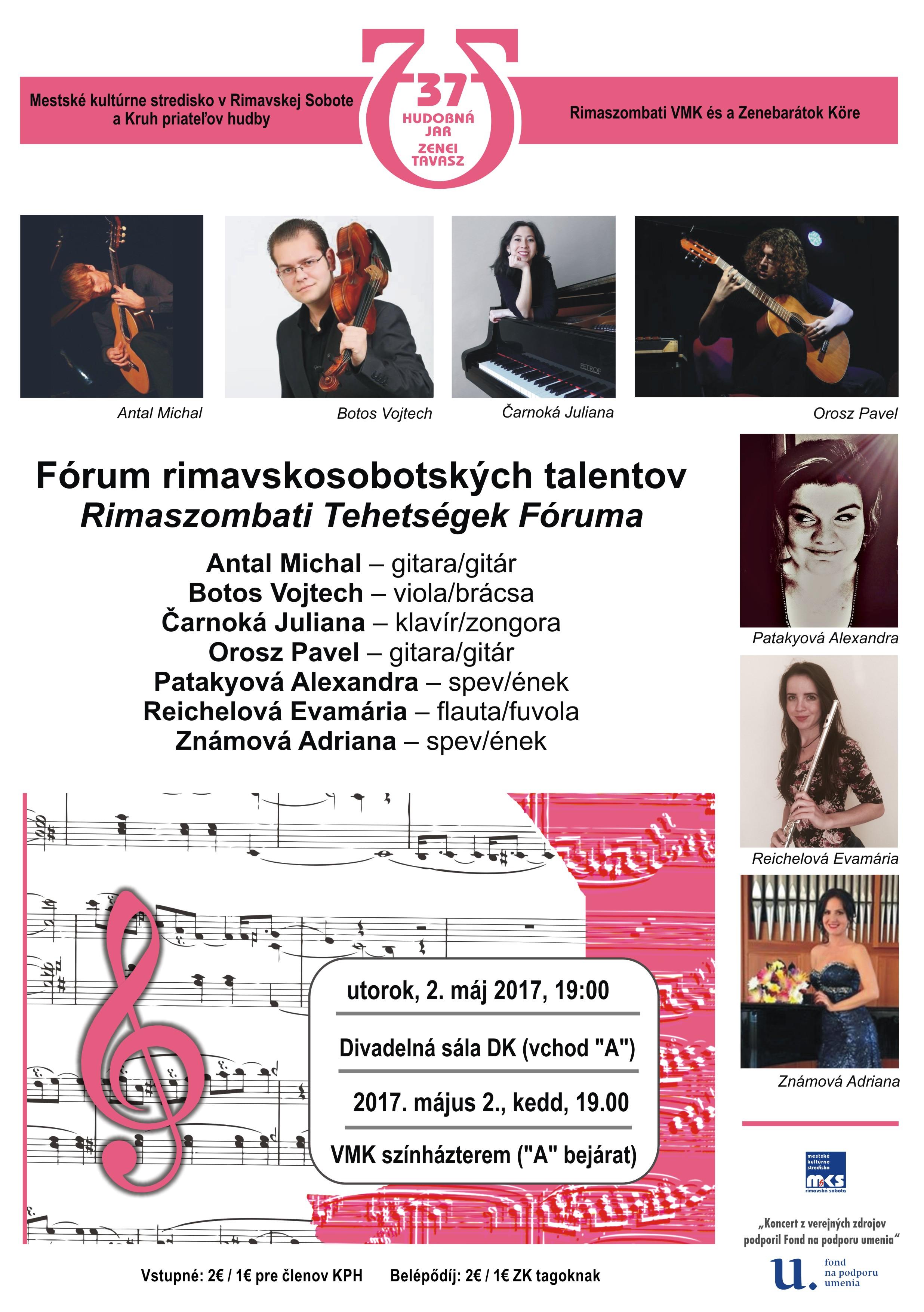 Fórum rimavskosobotských talentov - koncert @ Dom kultúry, divadelná sála DK (vchod od Kauflandu) | Slovensko