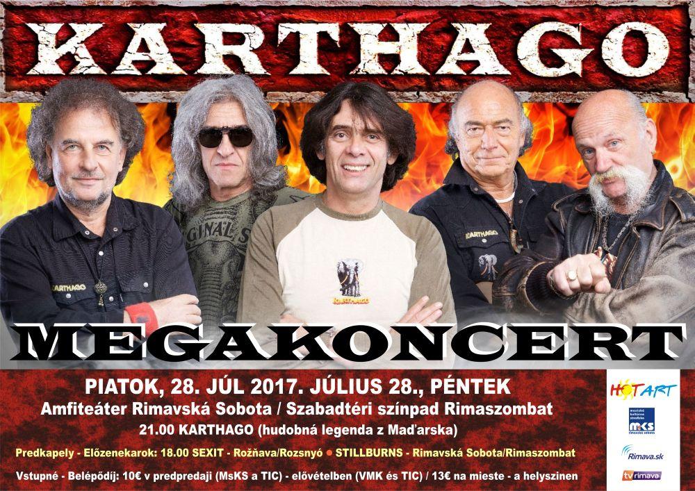 Megakoncert KARTÁGO @ Amfiteáter Rimavská Sobota | Slovensko
