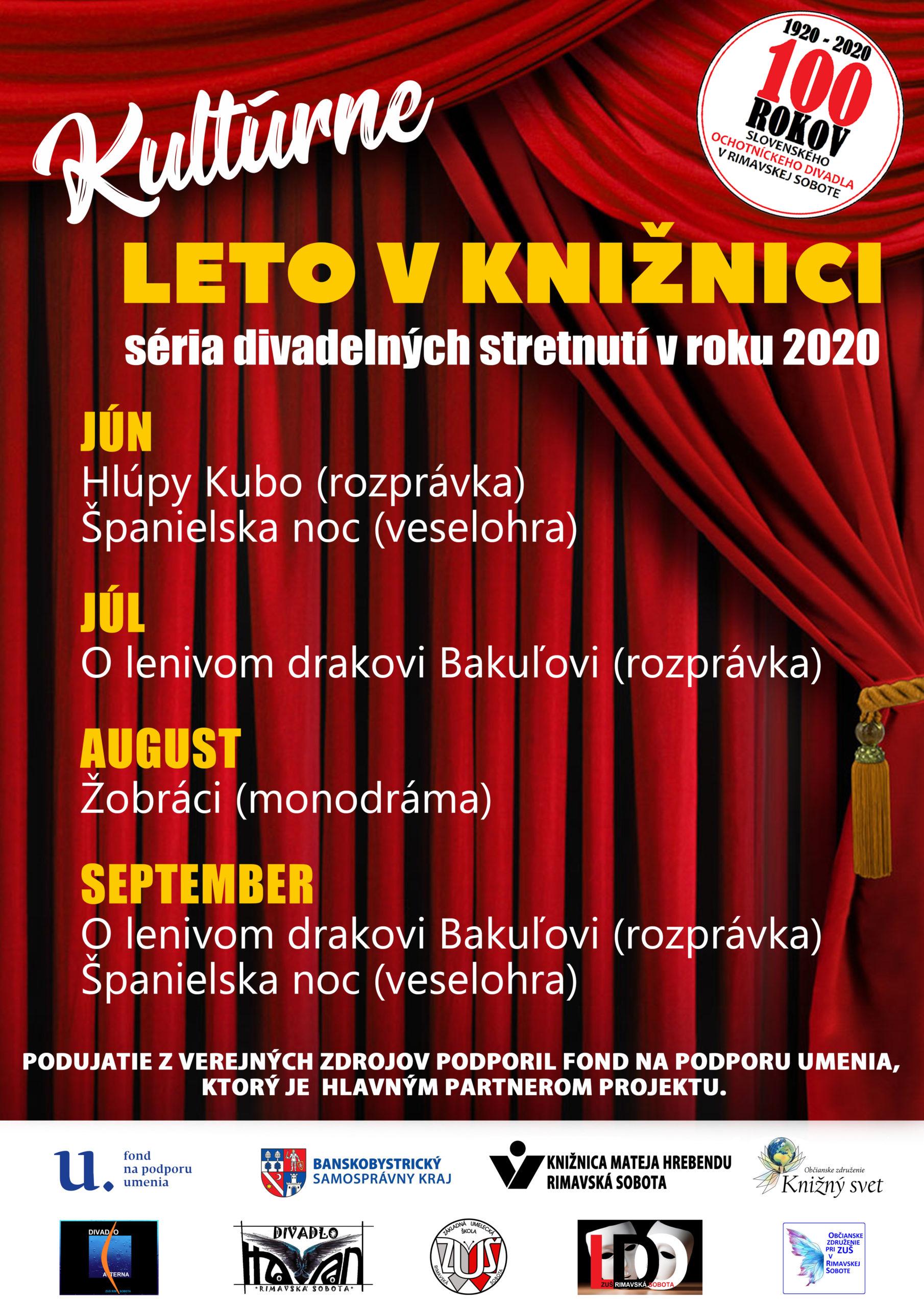 Kultúrne leto v knižnici @ Knižnica Mateja Hrebendu, FPU, BBSK