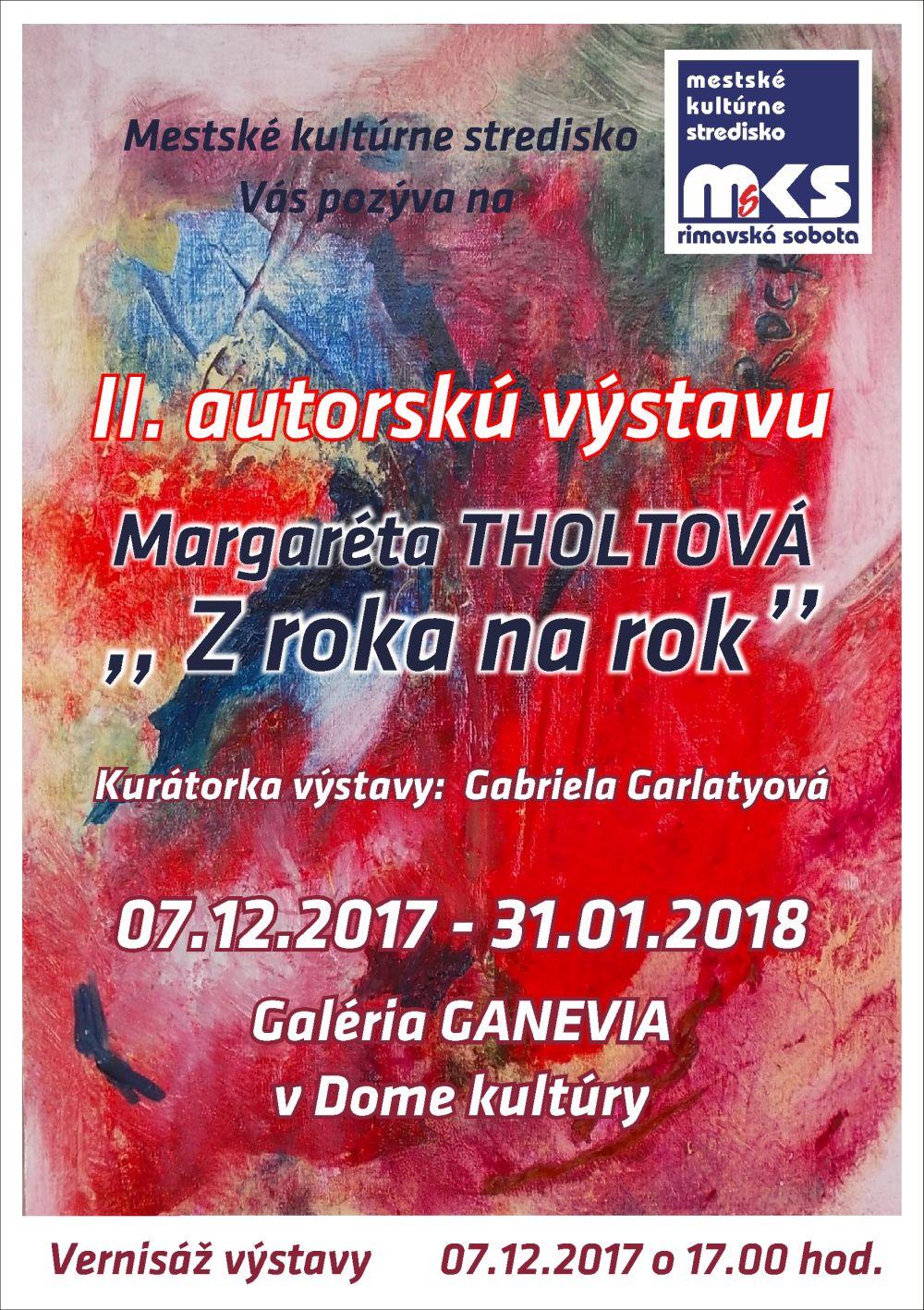 Margaréta Tholtová: olejomaľba @ Galéria GANEVIA, Dom kultúry Rimavská Sobota | Slovensko