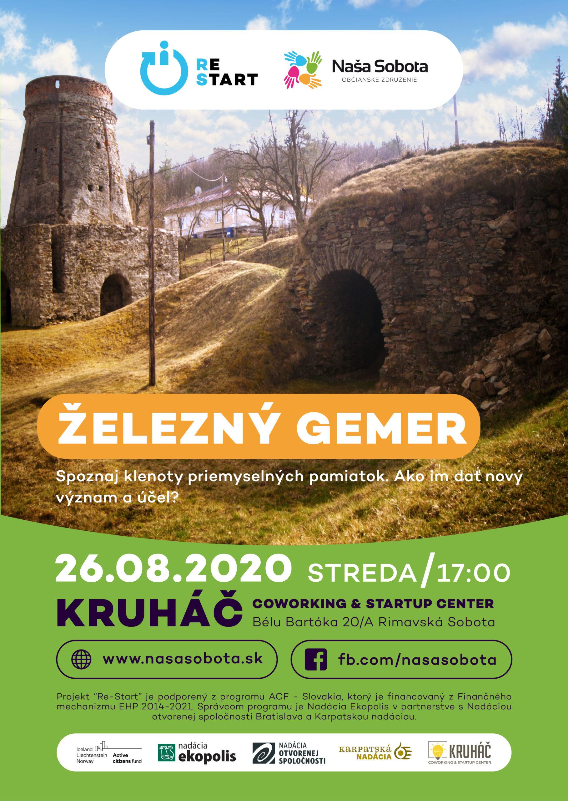 Železný Gemer @ Kruháč - Coworking and StartUp Center, Bélu Bartóka 20/A, 979 01 Rimavská Sobota