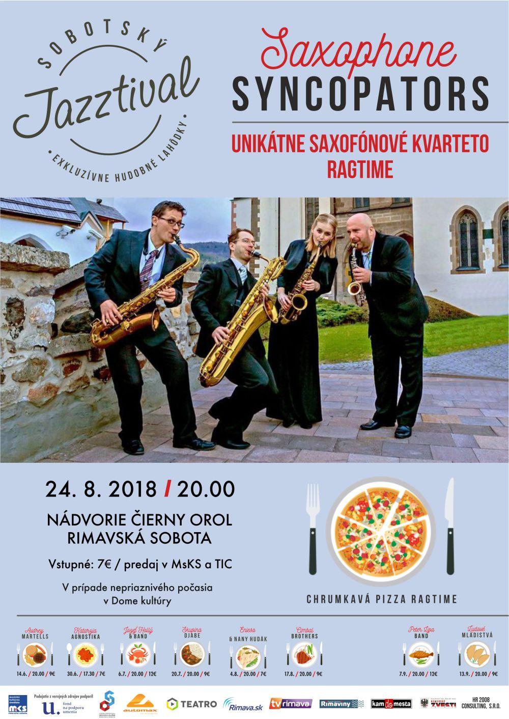 Koncert Saxophone Syncopators @ Nádvorie Čierny orol Rimavská Sobota | Banskobystrický kraj | Slovensko