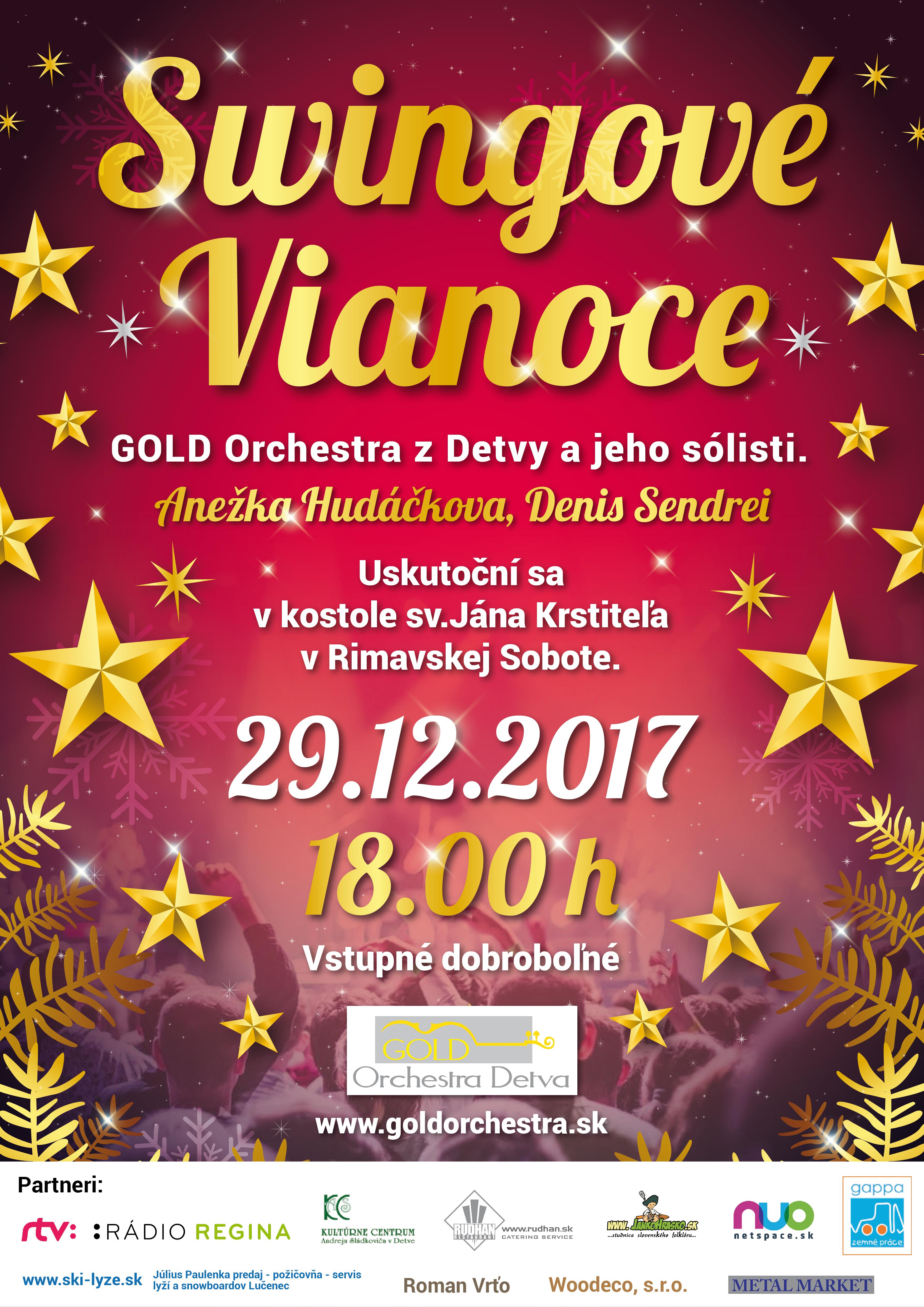 Swingové Vianoce - koncert @ Kostol sv.Jána Krstiteľa v Rimavskej Sobote | Banskobystrický kraj | Slovensko