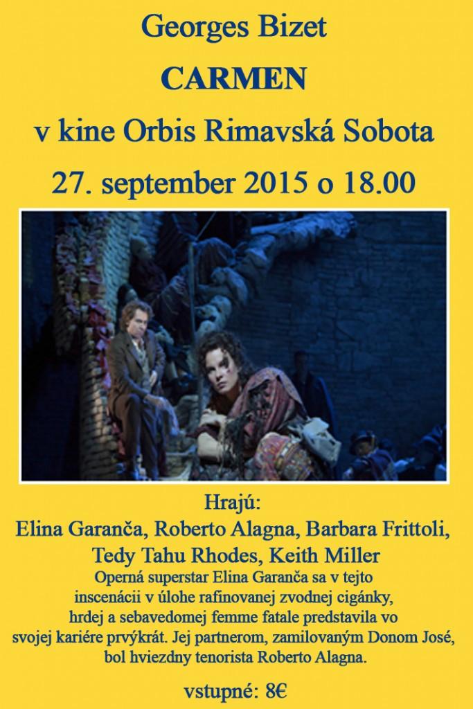 Bizet: Carmen @ Kino Orbis | Rimavská Sobota | Banskobystrický kraj | Slovensko