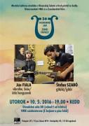 Ján Fiala (vibrafón, bicie) - Štefan Szabó (gitara) @ divadelná sála DK (javisko)   Rimavská Sobota   Slovensko