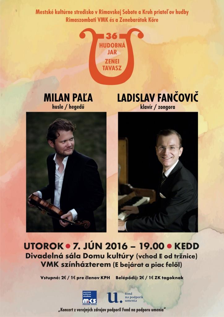 Milan Paľa (husle) - Ladislav Fančovič (klavír) @ divadelná sála DK (javisko) | Rimavská Sobota | Slovensko