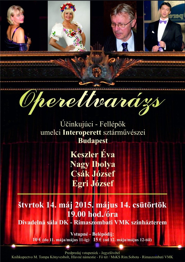 Operettvarázs @ divadelná sála DK | Rimavská Sobota | Slovenská republika