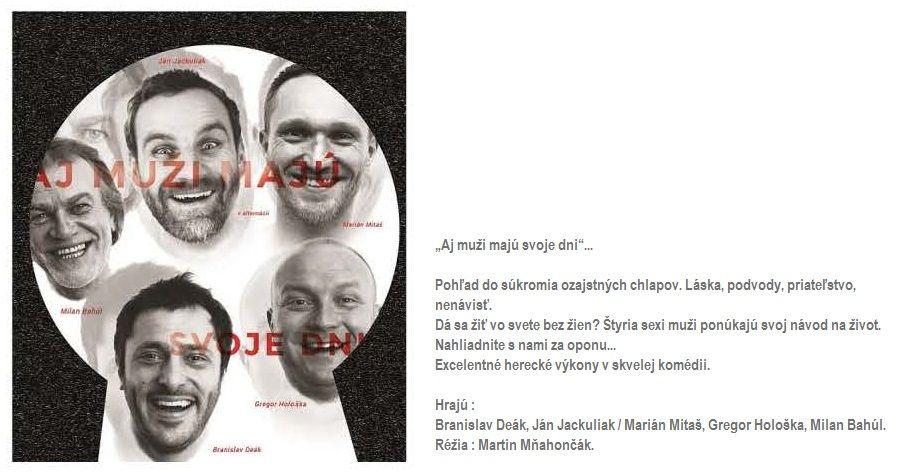 Aj muži majú svoje dni @ Divadelná sála Domu kultúry Rimavská Sobota | Rimavská Sobota | Banskobystrický kraj | Slovensko