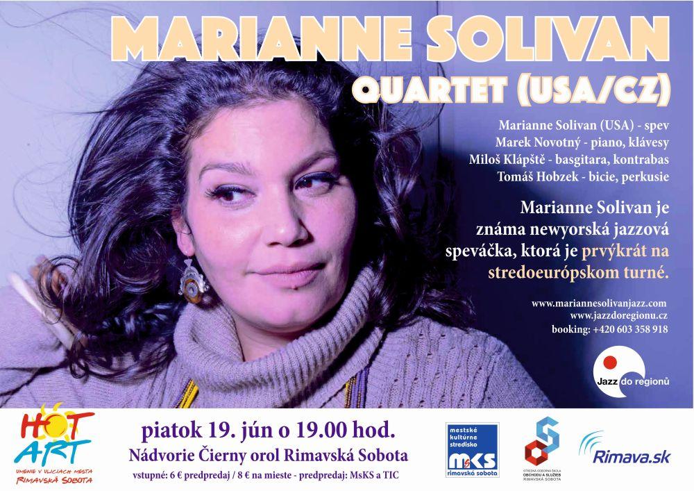 HOT ART - Marianne Solivan Quartet (USA/CZ) @ Nádvorie Čierny orol Rimavská Sobota | Rimavská Sobota | Slovenská republika